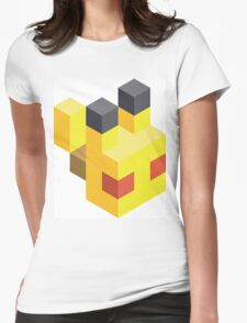 Pikachu Voxel Womens Fitted T-Shirt