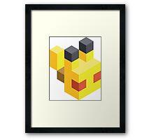Pikachu Voxel Framed Print