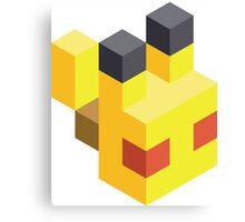 Pikachu Voxel Canvas Print