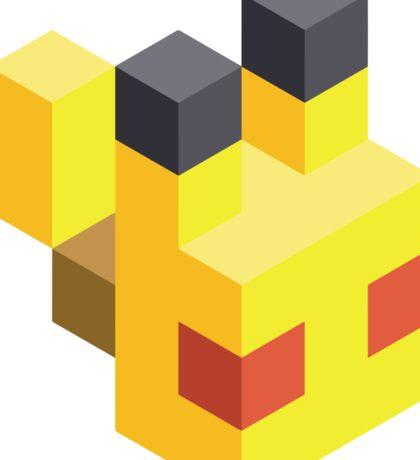 Pikachu Voxel Sticker