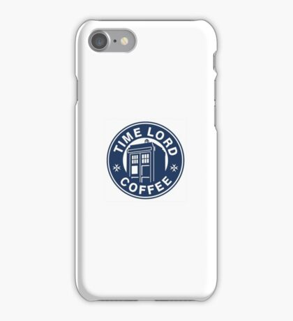 Dr Who Coffee Tardis iPhone Case/Skin