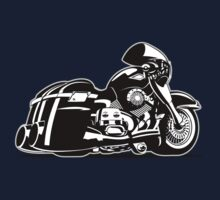 Cartoon Motorcycle Kids Tee