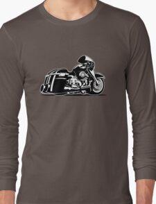 Cartoon Motorcycle Long Sleeve T-Shirt