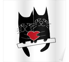 Cats love Poster