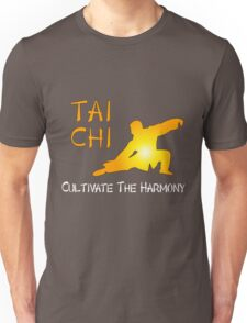 Tai Chi - Cultivate the Harmony (Black background) Unisex T-Shirt