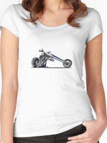 Cartoon Chopper Women's Fitted Scoop T-Shirt
