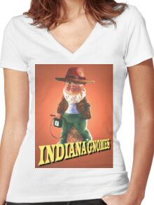 Indiana Gnomes Women's Fitted V-Neck T-Shirt