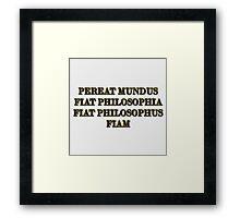 Nietzsche explains the ascetic ideal Framed Print