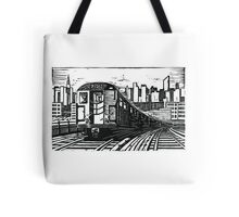New York Subway Train Tote Bag