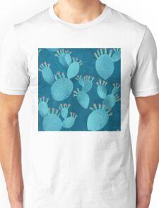 Blue cactus Unisex T-Shirt