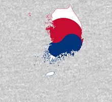Flag Map of South Korea  Unisex T-Shirt