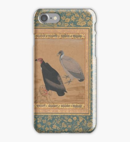 Red-Headed Vulture and Long-Billed Vulture, Folio from the Shah Jahan Album iPhone Case/Skin