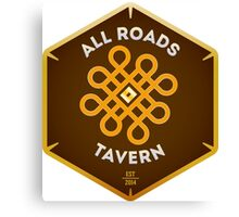 """All Roads Tavern """"Dice Sign"""" Full Color Logo Canvas Print"""