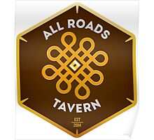 """All Roads Tavern """"Dice Sign"""" Full Color Logo Poster"""