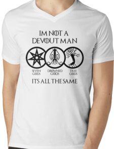 Devout Man Mens V-Neck T-Shirt