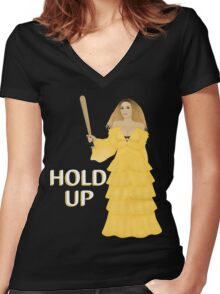 Hold Up Women's Fitted V-Neck T-Shirt