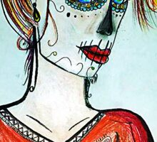Mexican day of the dead drawing Sticker