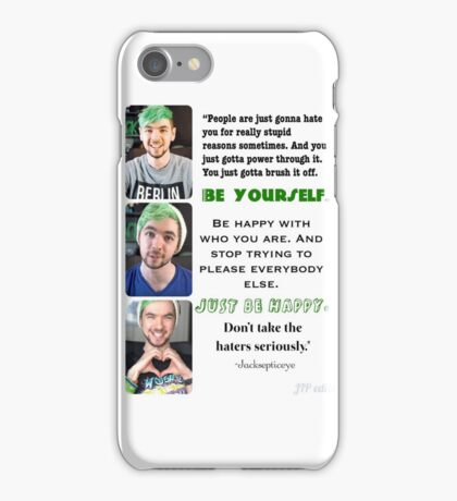 Jacksepticeye- Just Be Happy iPhone Case/Skin