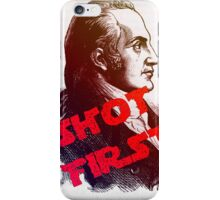 Aaron Burr Shot First - Hamilton on Broadway, Star Wars Mash-up iPhone Case/Skin