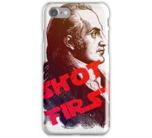 Aaron Burr Shot First - Hamilton on Broadway, Star Wars Mash-up iPhone Case/Skin