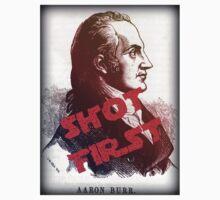 Aaron Burr Shot First - Hamilton on Broadway, Star Wars Mash-up One Piece - Short Sleeve