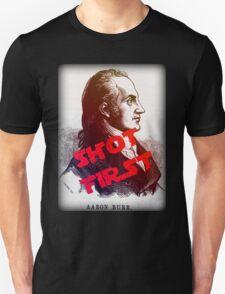 Aaron Burr Shot First - Hamilton on Broadway, Star Wars Mash-up Unisex T-Shirt