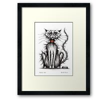 Fuzzy cat Framed Print