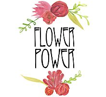 Flower Power Watercolor Photographic Print