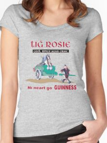 GUINNESS VINTAGE GUINNESS IN IRISH GAELIC Women's Fitted Scoop T-Shirt