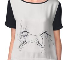 Abstract horse Chiffon Top
