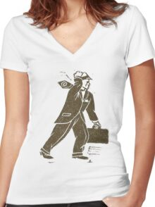 Rush Hour Man Women's Fitted V-Neck T-Shirt
