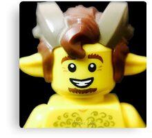 Lego Faun minifigure Canvas Print
