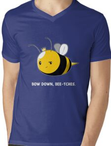 Bow Down Bee-tches Mens V-Neck T-Shirt