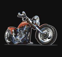 Cartoon Motorbike Kids Tee