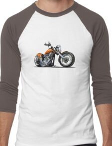 Cartoon Motorbike Men's Baseball ¾ T-Shirt