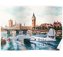 Flying Boat on the Thames Poster