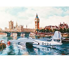 Flying Boat on the Thames Photographic Print