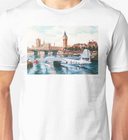 Flying Boat on the Thames Unisex T-Shirt