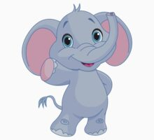 Cute elephant cartoon Kids Tee