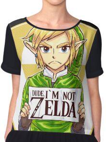 Dude, I'm Not Zelda Chiffon Top