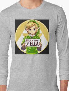 Dude, I'm Not Zelda Long Sleeve T-Shirt