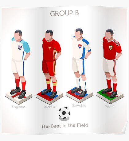 EURO 2016 Championship GROUP B Poster