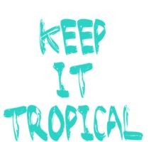 Keep it #tropcal No.2 in BLUE Sticker