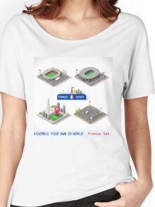 Game Set EURO 2016 France Stadium Women's Relaxed Fit T-Shirt