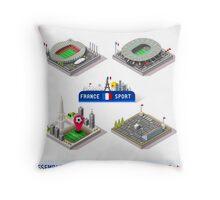 Game Set EURO 2016 France Stadium Throw Pillow