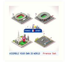 Game Set EURO 2016 France Stadium Art Print