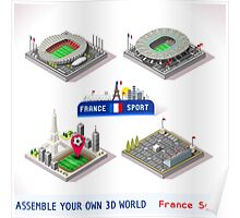 Game Set EURO 2016 France Stadium Poster