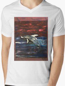 Humpback whale Mens V-Neck T-Shirt