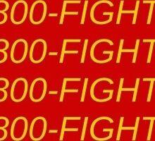 1 800 Fight On Sticker