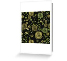 Seamless flowers pattern floral background Greeting Card